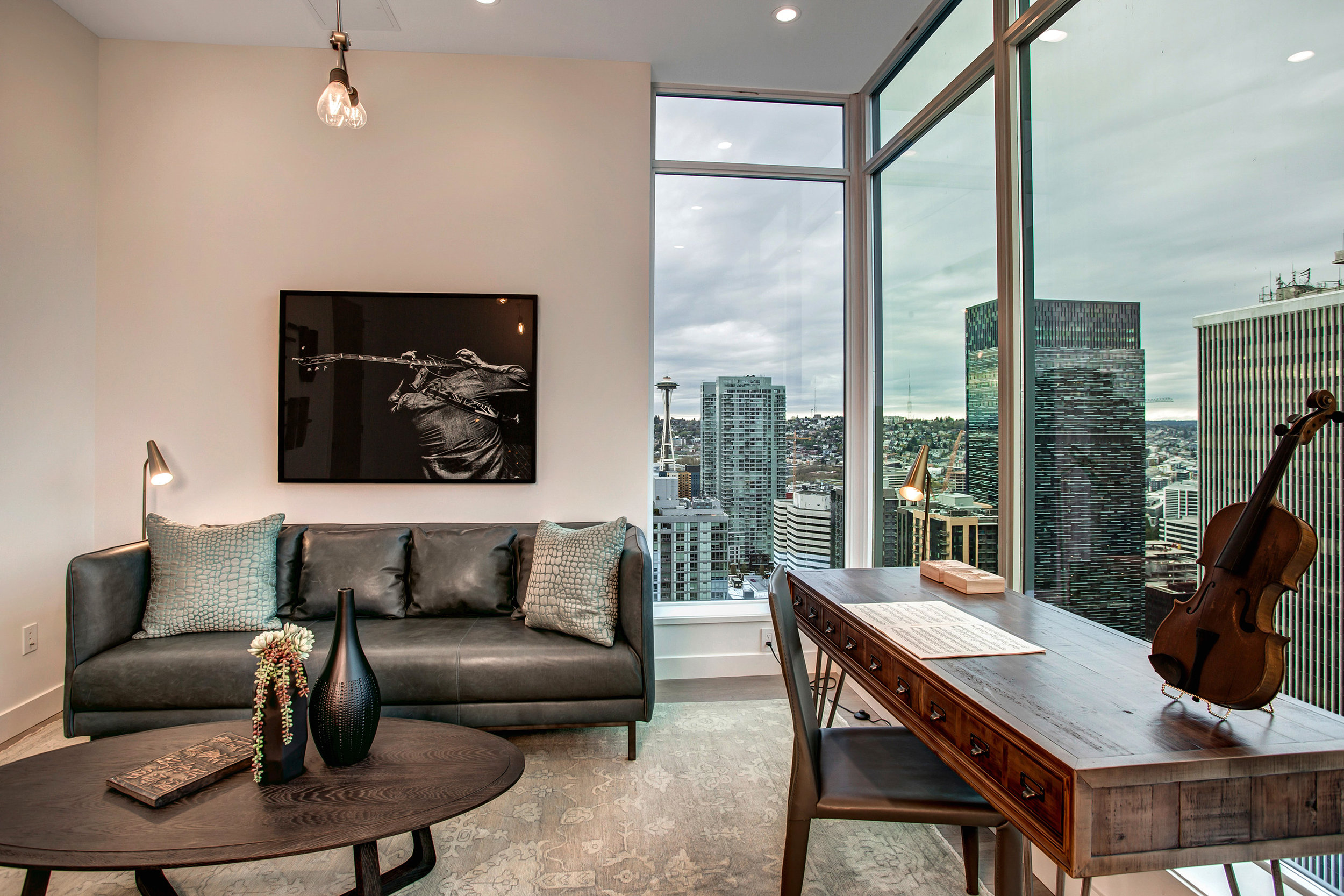 Commanding east facing views from the versatile flex room. Use as an office, bonus/media space, or a quiet reading room.