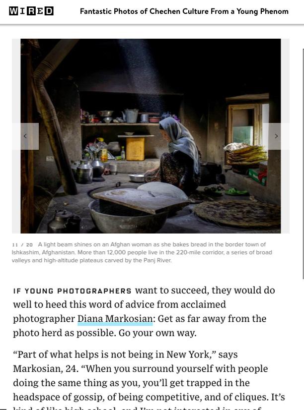 Portfolio , Wired Magazine