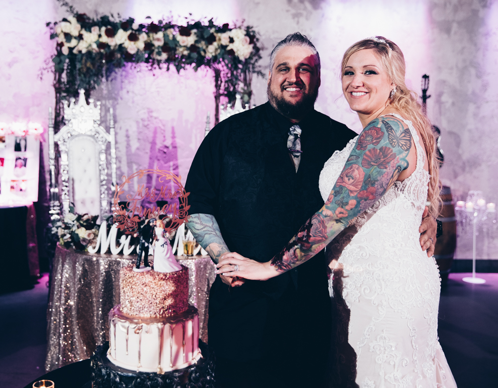 Any other special stories or details? - I planned every detail for our wedding. I made all our centerpieces, card cage, favors, programs, menus, hashtag sign, unplugged sign, welcome to our wedding etc. etc.