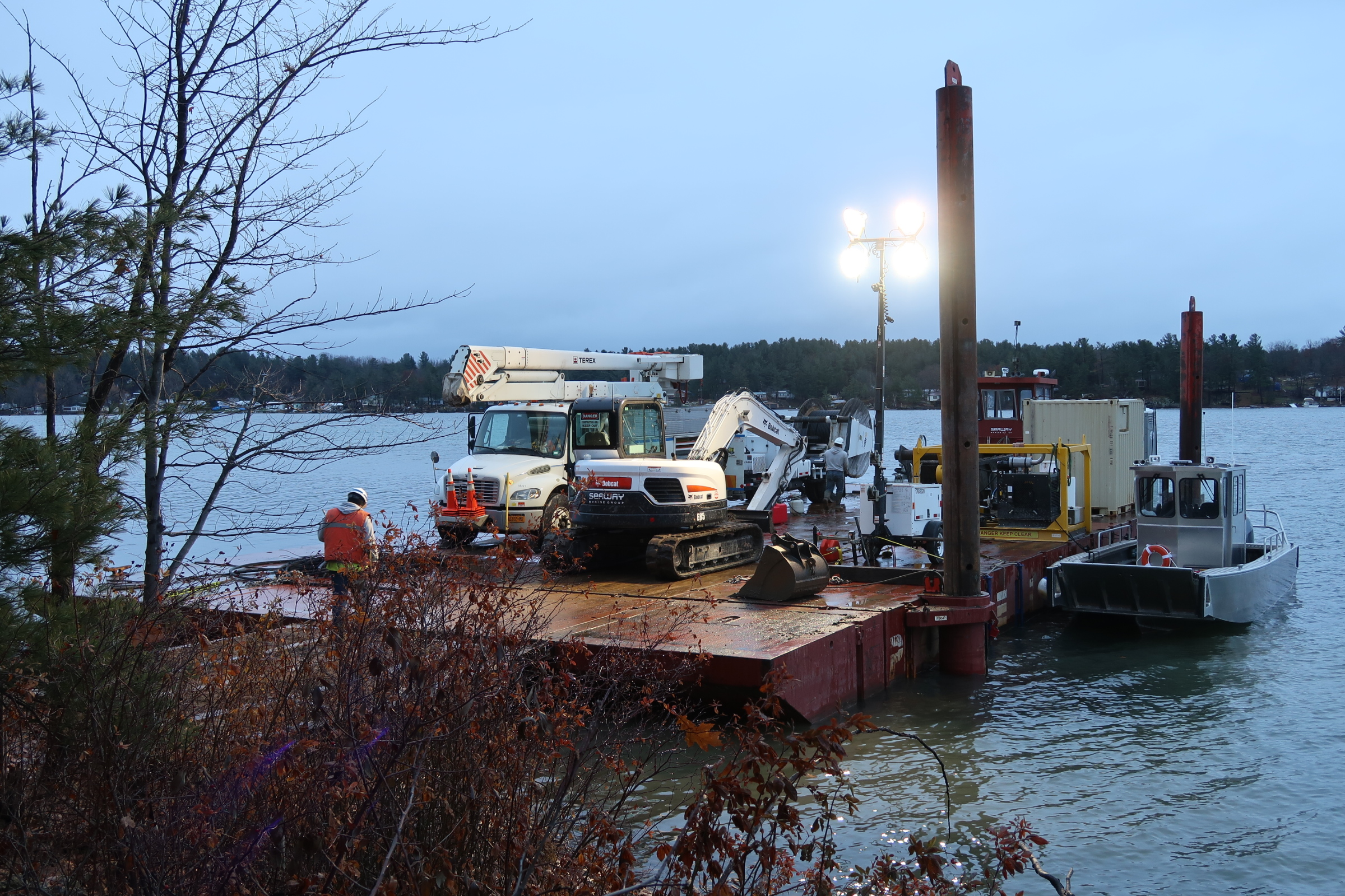 NATIONAL GRID - ST. LAWRENCE RIVER & ERIE CANALMARINE TRANSPORTATION, CABLE LAYING, SPECIAL ACCESS ASSISTANCE