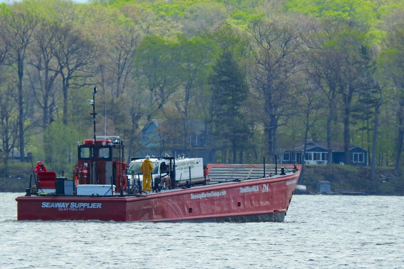 NYS DEC - LAKE ONTARIOFISH STOCKING VIA USCG CERTIFIED LCM-8