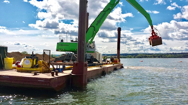 deck barge, charter, Seaway Marine Group, dredging, New York