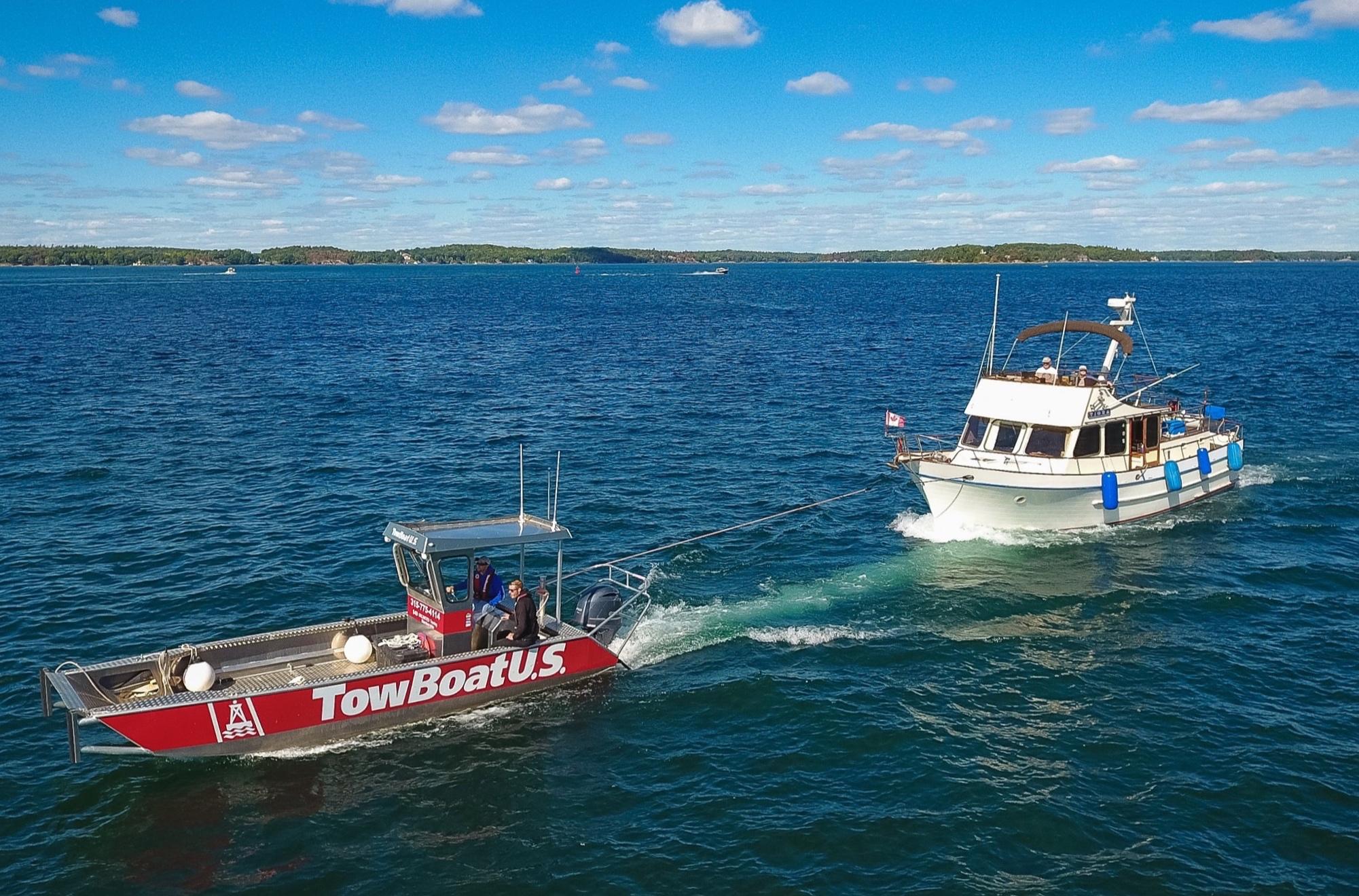 TowBoatU.S. Clayton, towing, boats, broken down boat, Thousand Islands