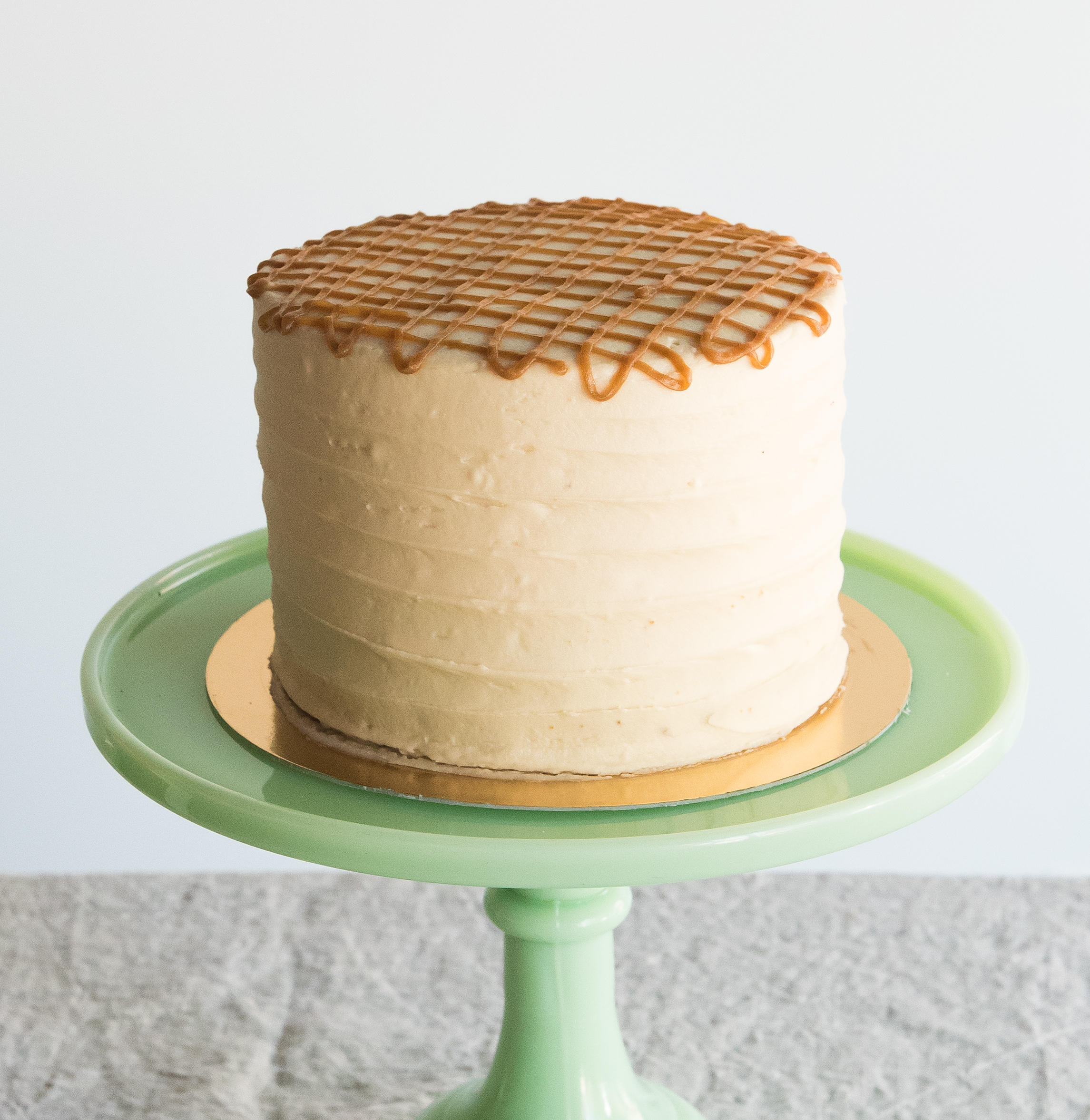 Salted Vanilla Cake with Salted Caramel Buttercream