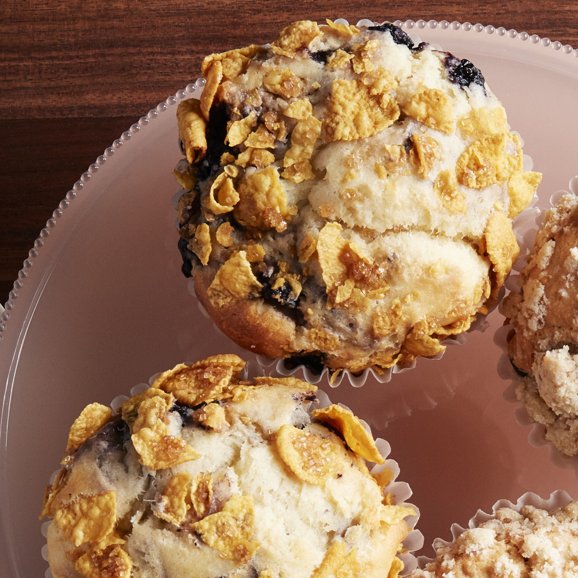 Blueberry Cornflake Muffin