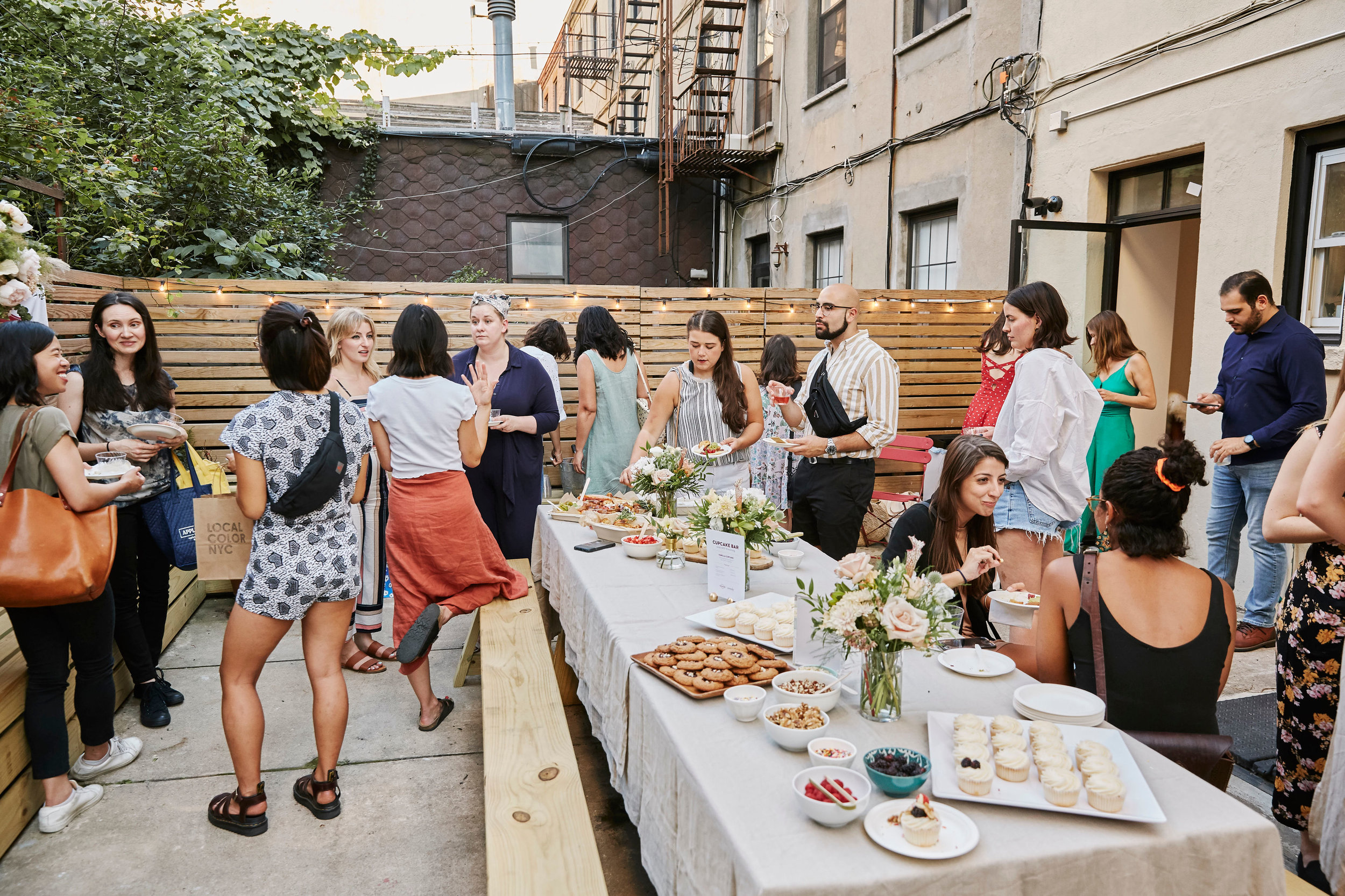 Special Event in the Ovenly Studio ONE54 Backyard