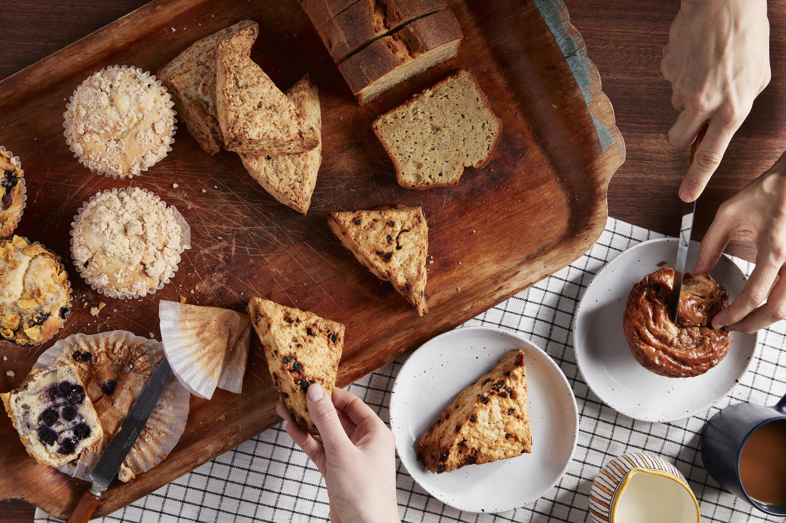 Muffins, Scones & Pistachio Cardamom Bread