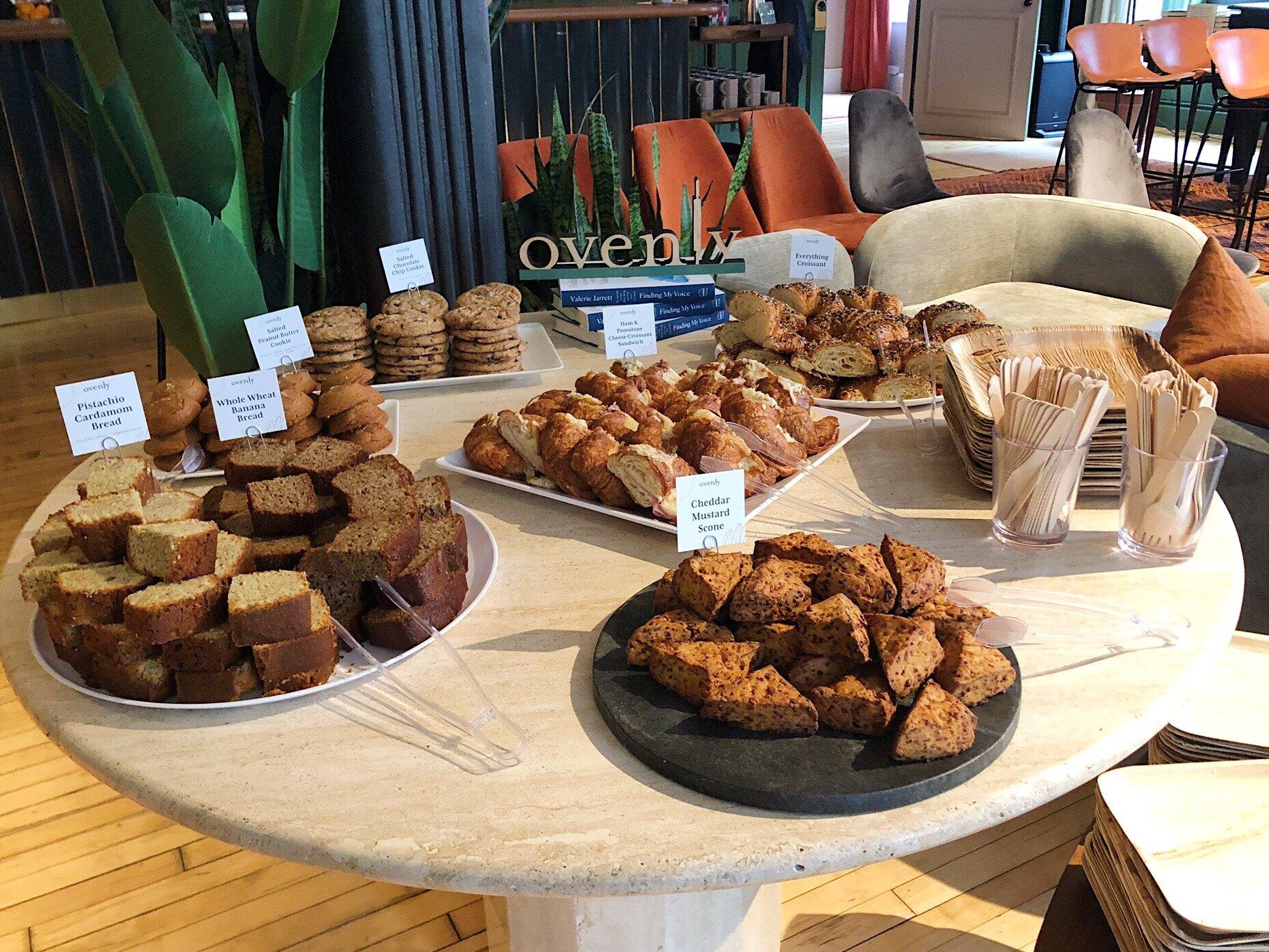Quick Breads, Mini Scones, Croissant Sandwiches & Cookies