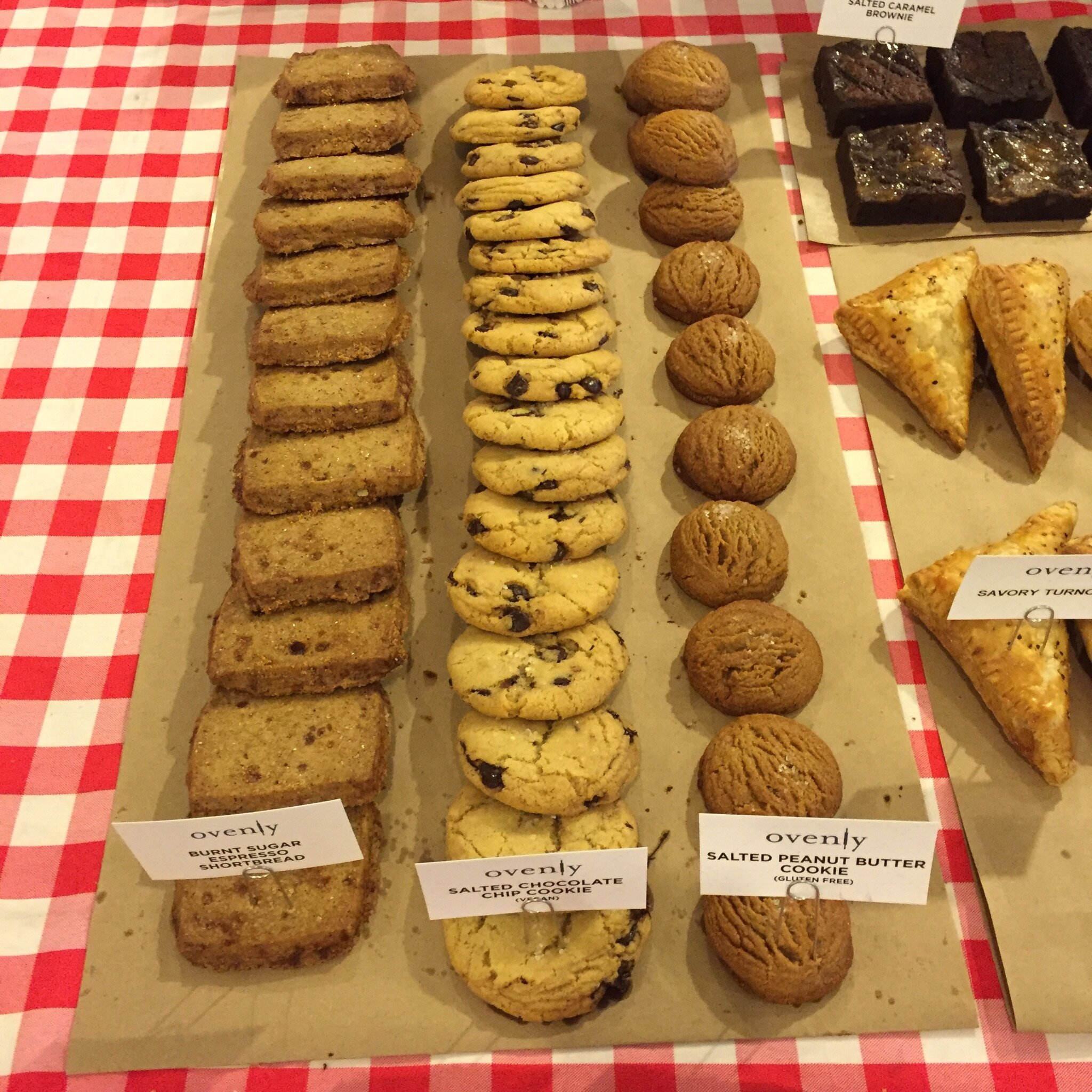 Shortbreads, Salted Chocolate Chip Cookies & Salted Peanut Butter Cookies