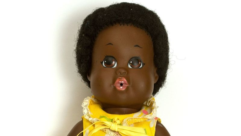 A 13-inch black doll named Baby Nancy made her American Toy Fair debut, which took place the week of March 2, 1969. (Hersh Rosner)