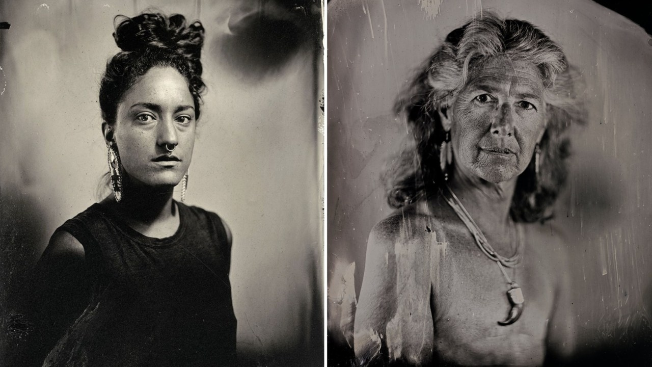 Canadian indigenous and Jewish photographer Kali Spitzer (left) was  mostly raised in Victoria by her Jewish mother, Eloise (right).  (Photos/Kali Spitzer)
