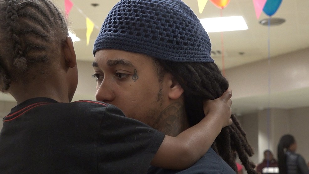 The Arlington County Detention Facility (ACDF) hosted an event allowing incarcerated mothers and fathers to visit with their young children for a few hours. (Caroline Patrickis/ABC7)