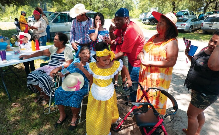 Descendants of the Negro Mascogo people of northern Mexico gather to celebrate Juneteenth in the village of Nacimiento de los Negros. Photograph by Wes Ferguson