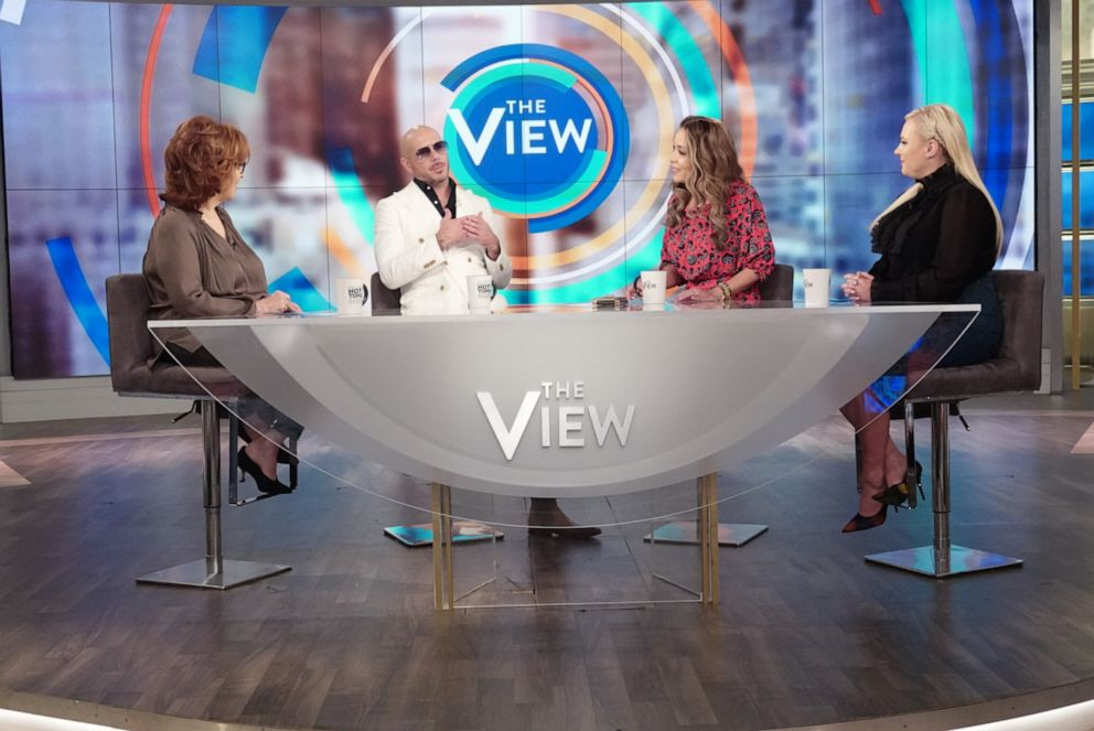 "Pitbull discusses education, his new movie ""The Ugly Dolls,"" and the immigration crisis with ""The View"" co-hosts Joy Behar, Sunny Hostin, and Meghan McCain on Thursday, April 25, 2019."