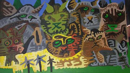 Painting by Dominic Killiany (WBZ-TV)