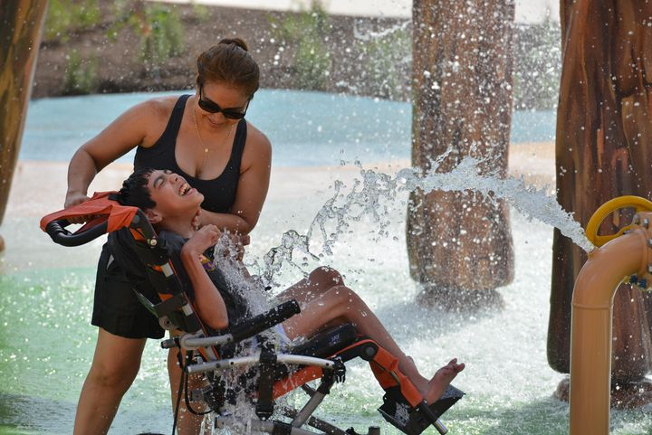 Robin Jerstad/Jerstad Photographics  Morgan's Inspiration Island, a splash park, was designed with kids in disabilities in mind.