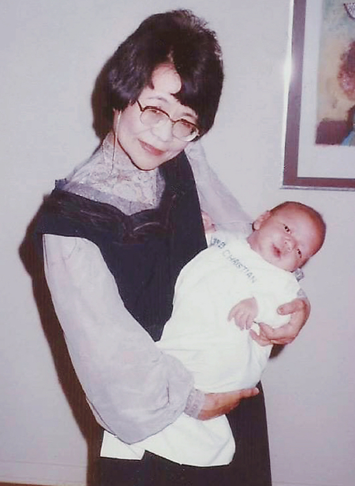 "Kazuko Ide relocated to the Chicago area from Osaka to help raise her grandson, James. The boy grew up to keep his promise to his grandmother, that he would someday be a champion on ""Jeopardy!"" (Courtesy James Holzhauer)"