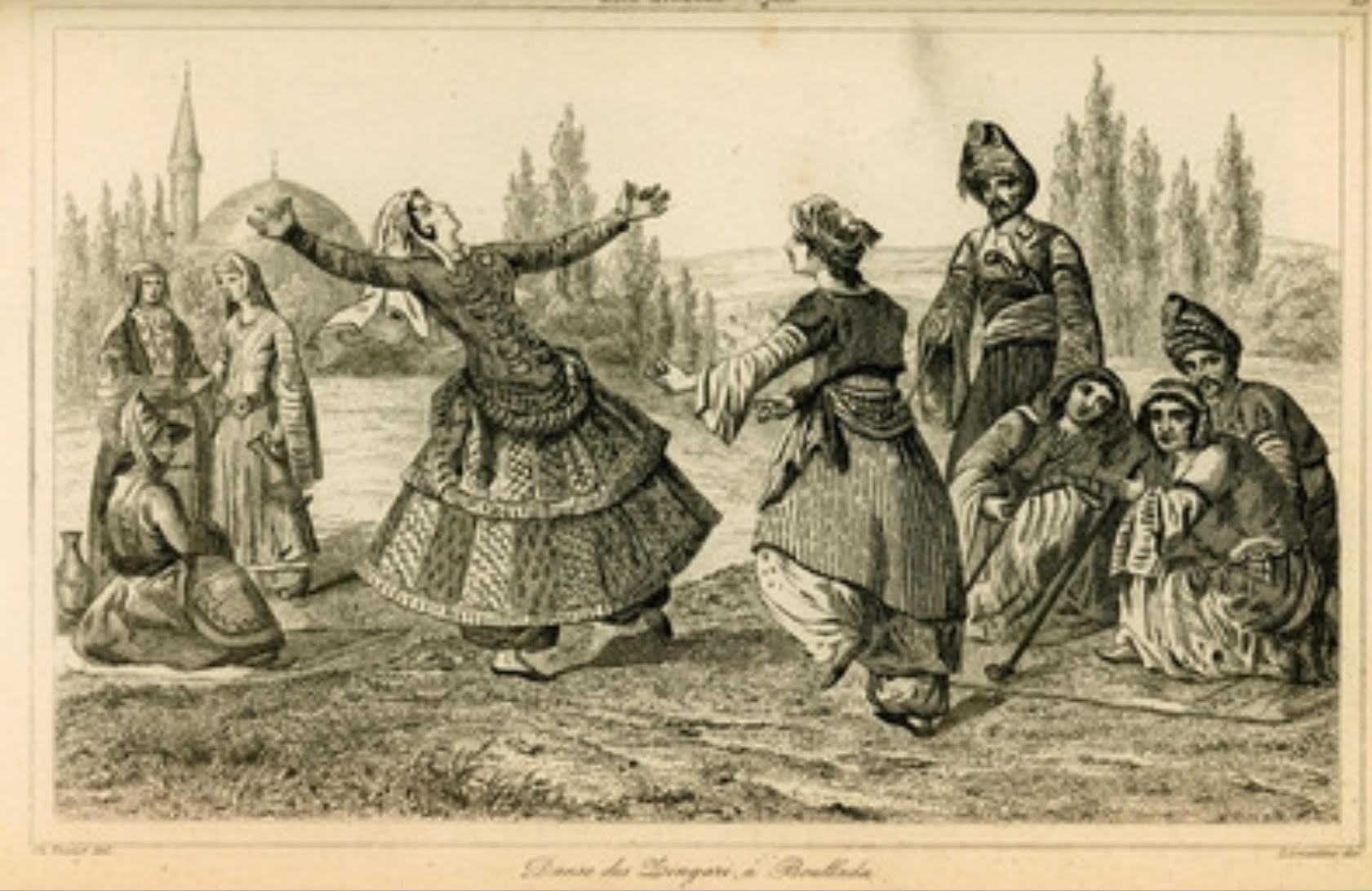 Photo: Gypsies dancing (1882). Source: Aikaterini Laskaridis Foundation
