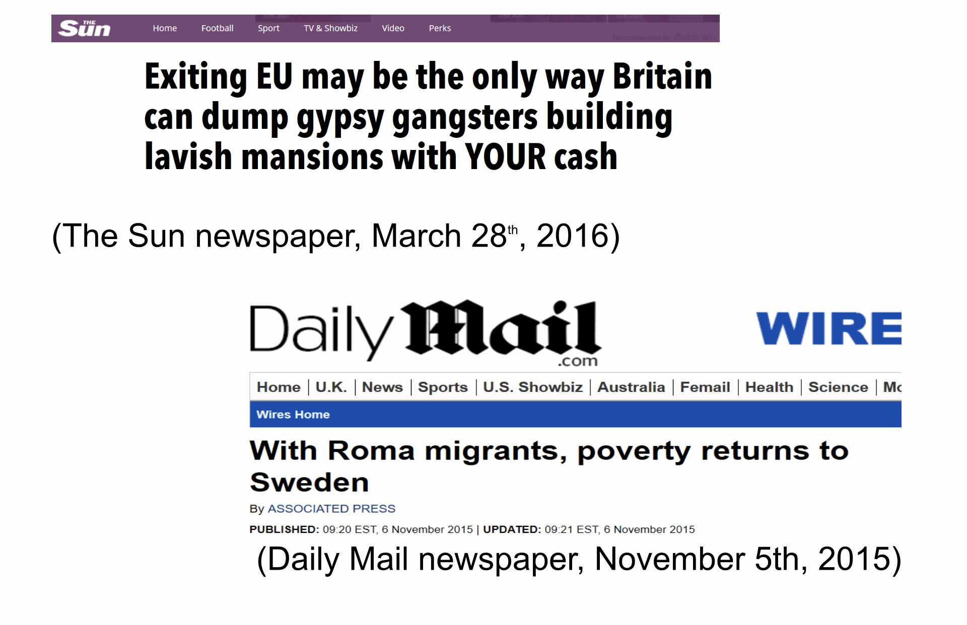 (Daily Mail newspaper, November 5th, 2015)