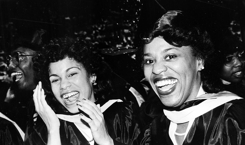 African-American women at Morgan State University in Baltimore during a graduation ceremony in 1960  Afro American Newspapers/Gado/Getty Images