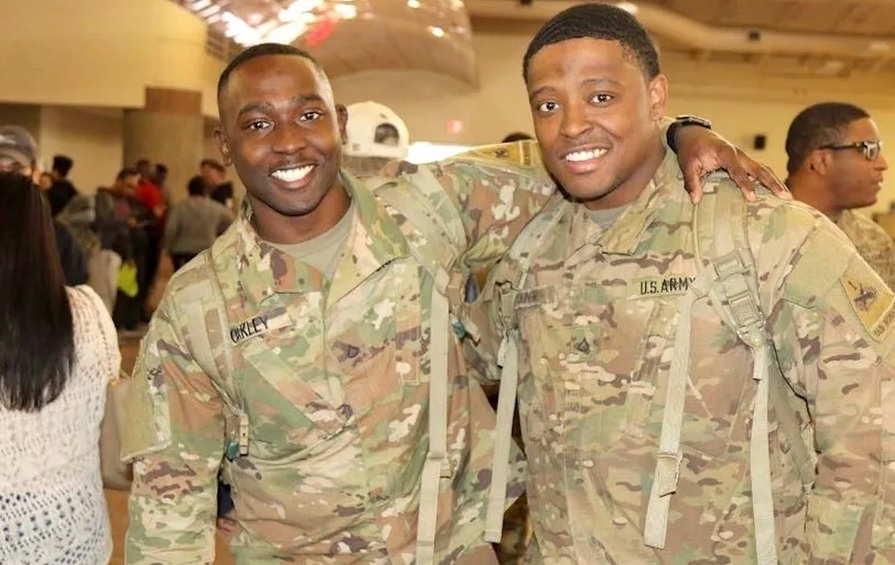 Glendon Oakley Jr. returns home from his deployment to Kuwait in March 2019.(Courtesy photo)