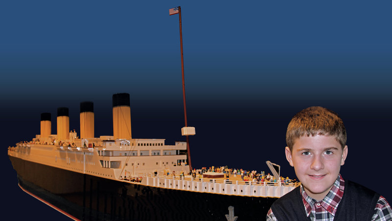 It took Brynjar Karl Birgisson 11 months to complete the world's largest Titanic replica, using only Legos.   Courtesy of Titanic Museum Attraction