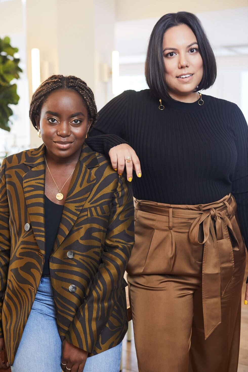 Mandi Nyambi (left) and Lanya Olmsted (right) at The Wing DUMBO  Taea Thale