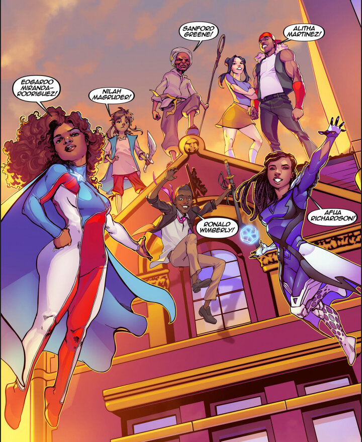 Key Artwork art directed by Edgardo Miranda-Rodriguez, illustrated by Miguel Blanco, colored by Paris Alleyne for CCCADI (image courtesy CCCADI)