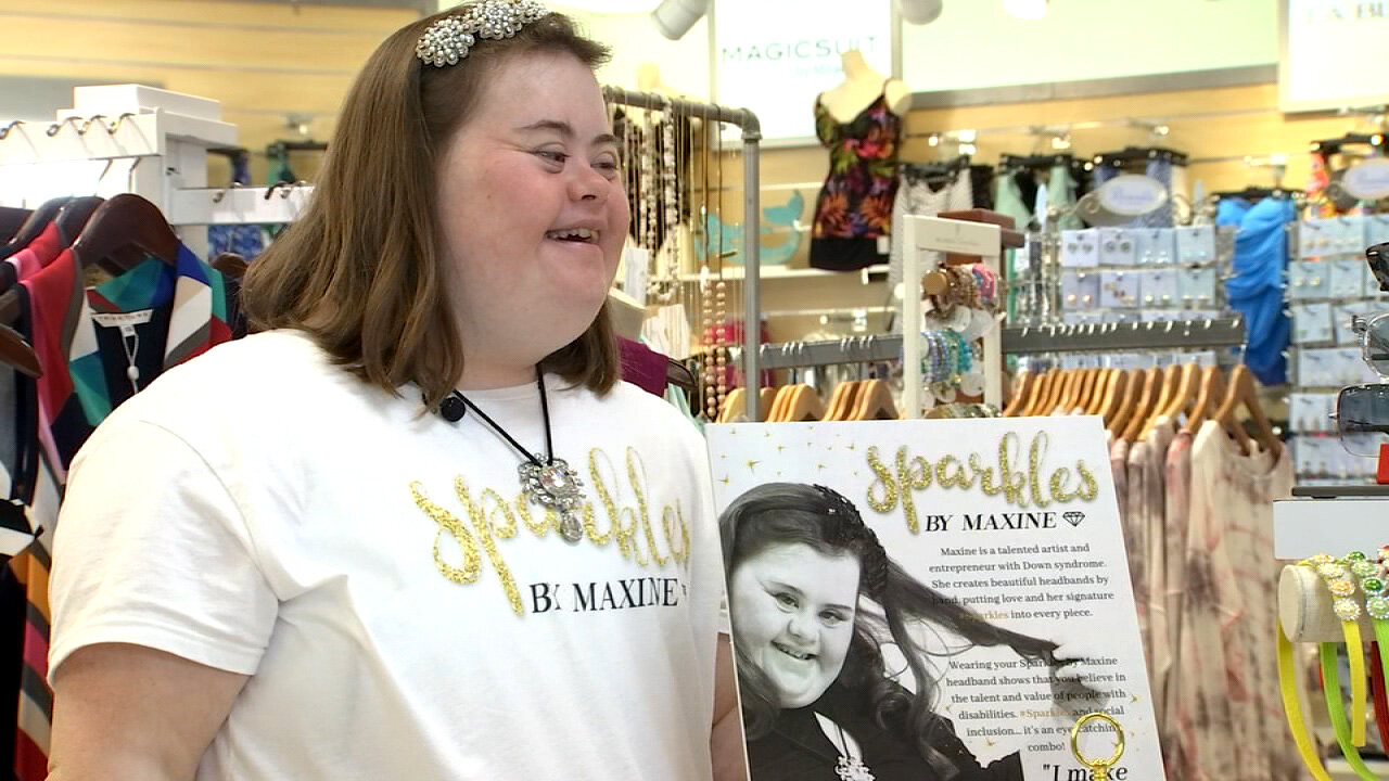 Extraordinary Ordinaries: 'Sparkles by Maxine'  Maxine Simeone, who was born with Down syndrome, found a passion for custom jewelry, and, even better found a Clearwater business that would sell them. She also has a website where you can directly order her accessories.