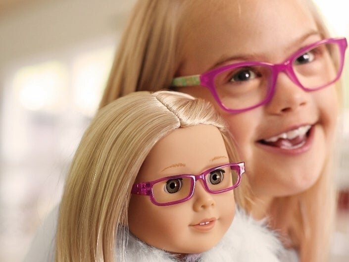 Annie Osterhues, 9, appeared in a recent holiday catalog for American Girl after being asked to model for the company. (American Girl)