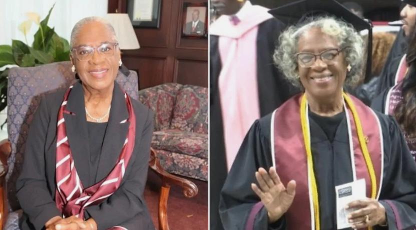 80-year-old Donzella Washington has graduated with a 3.69 CGPA from Alabama A&M University. Photo: AAMU Source: UGC Read more:  https://briefly.co.za/45791-80-year-woman-graduates-university-369-cgpa.html