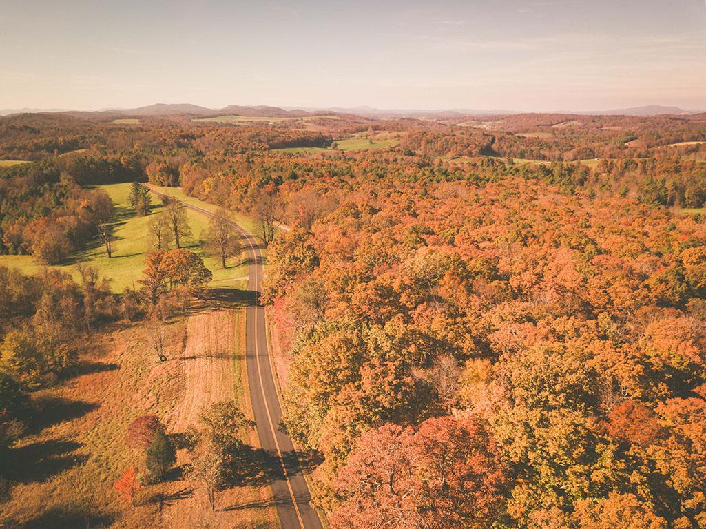 High Above a North Carolina autumn