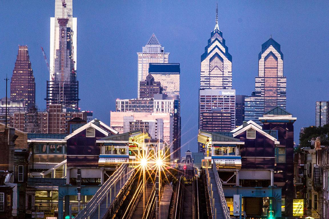West bound market street train