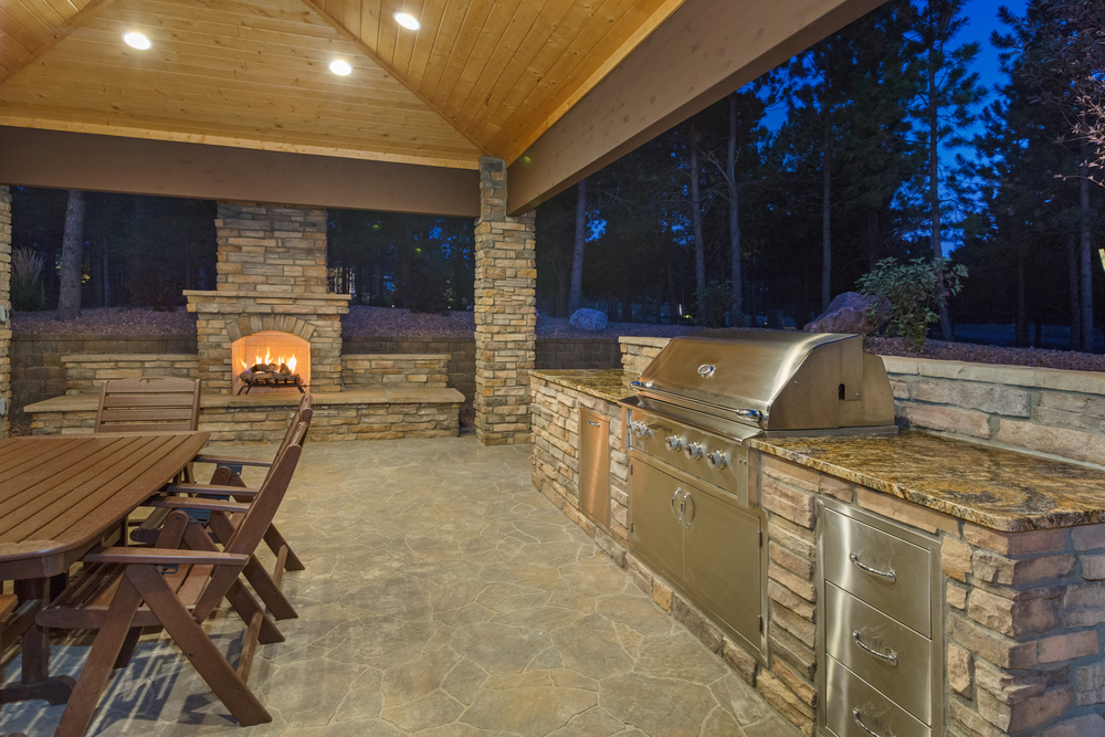 Outdoor Kitchen And Fireplace Designs Silvestri
