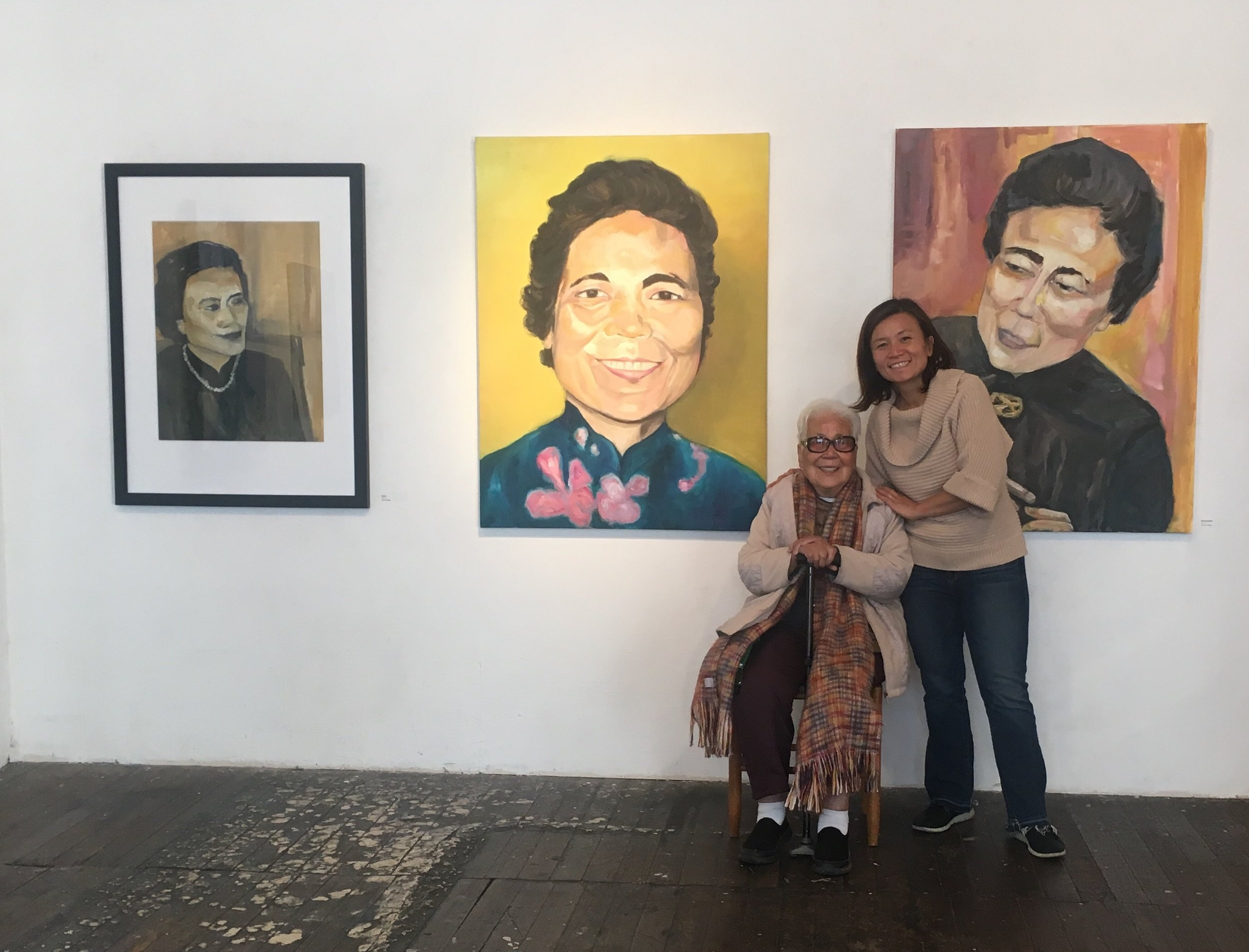 "My grandmother and me at the Live Worms Gallery in San Francisco for ""Phenomenal: Women Celebrating Women"", March 10, 2019"