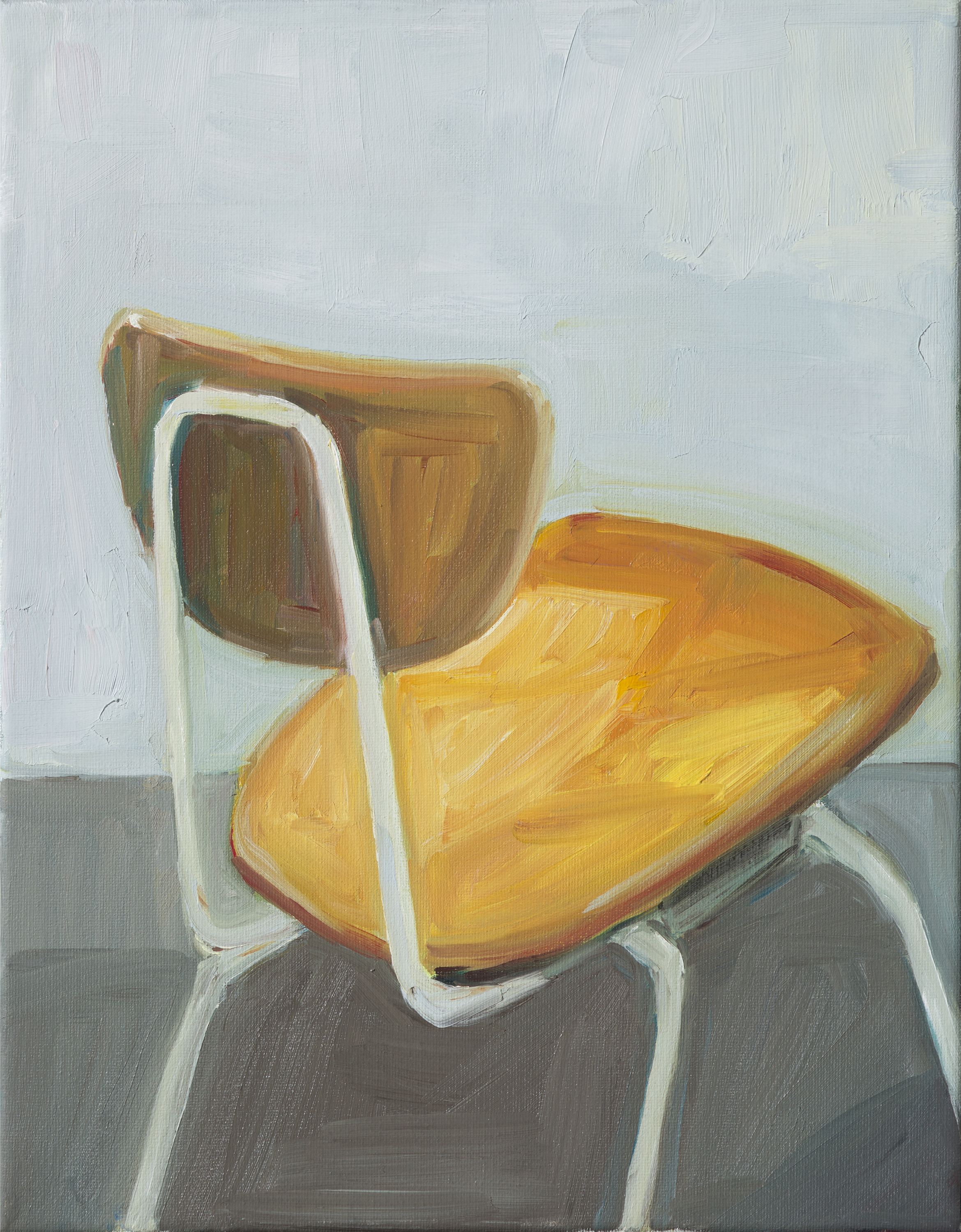 """Have a seat (#4)"" oil on canvas, 11"" x 9"""