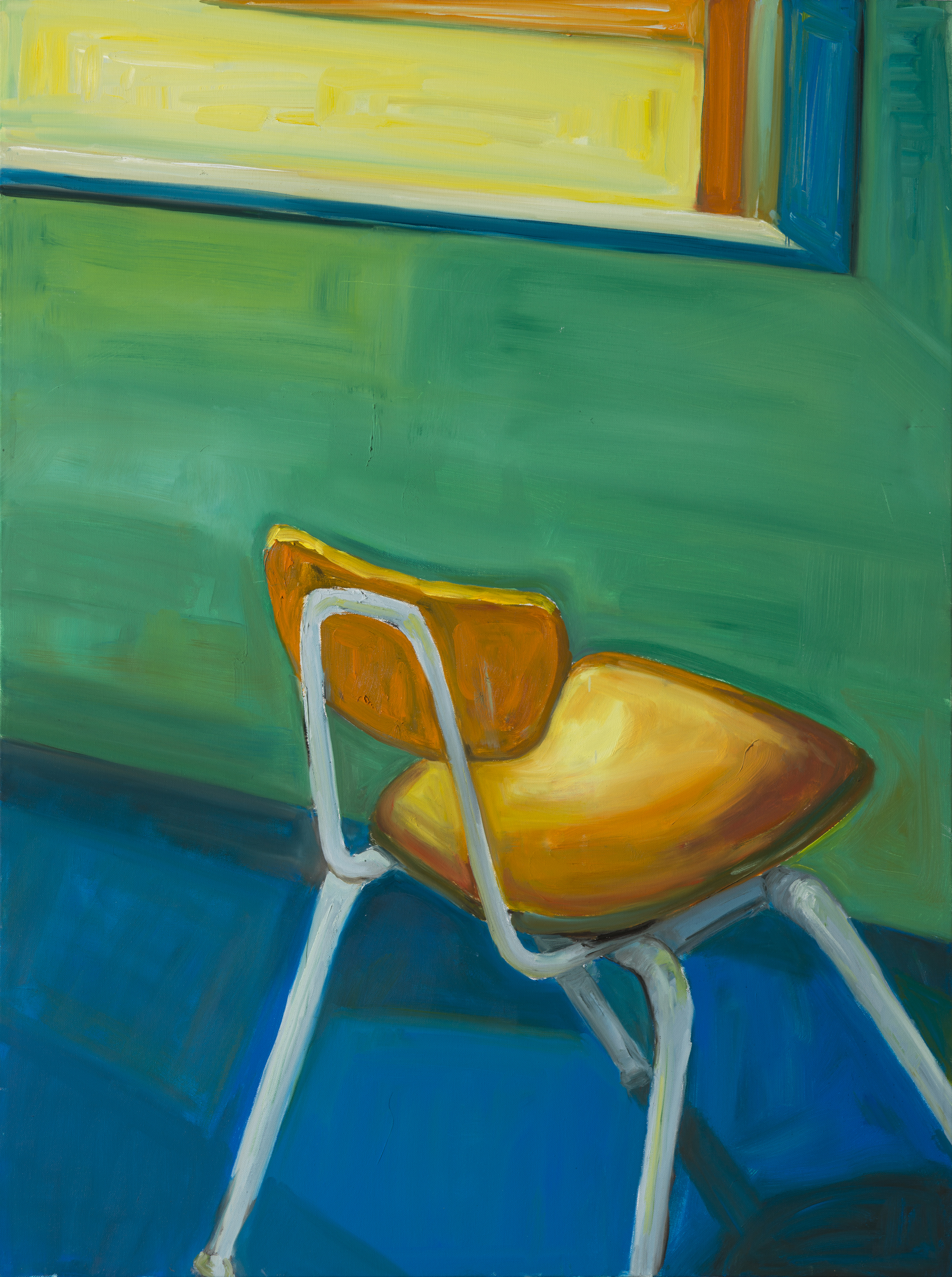 """Have a seat (#5)"" oil on canvas, 48"" x 36"""