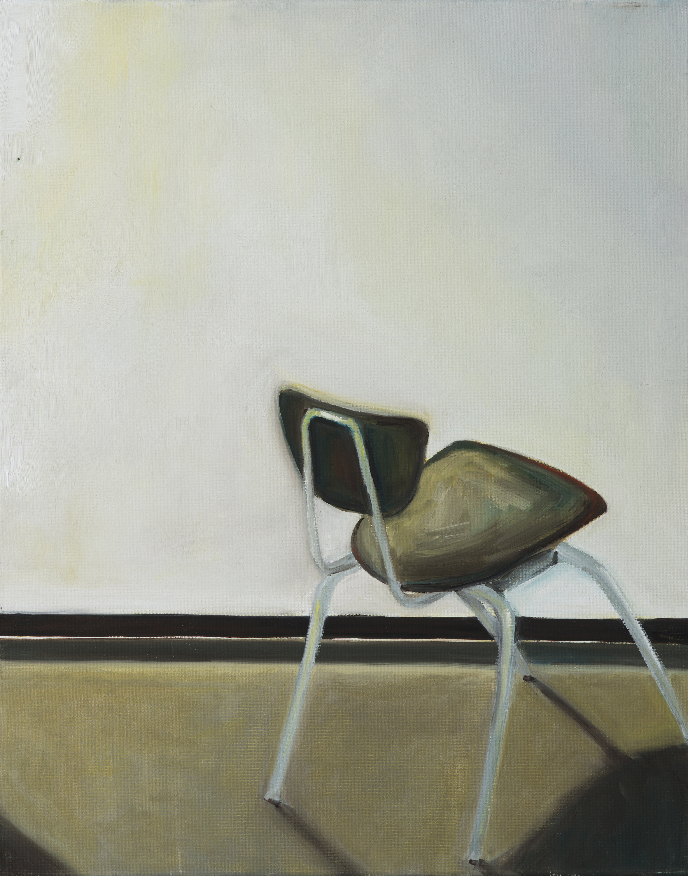 "Have a seat (#3), oil on canvas, 20"" x 16"""