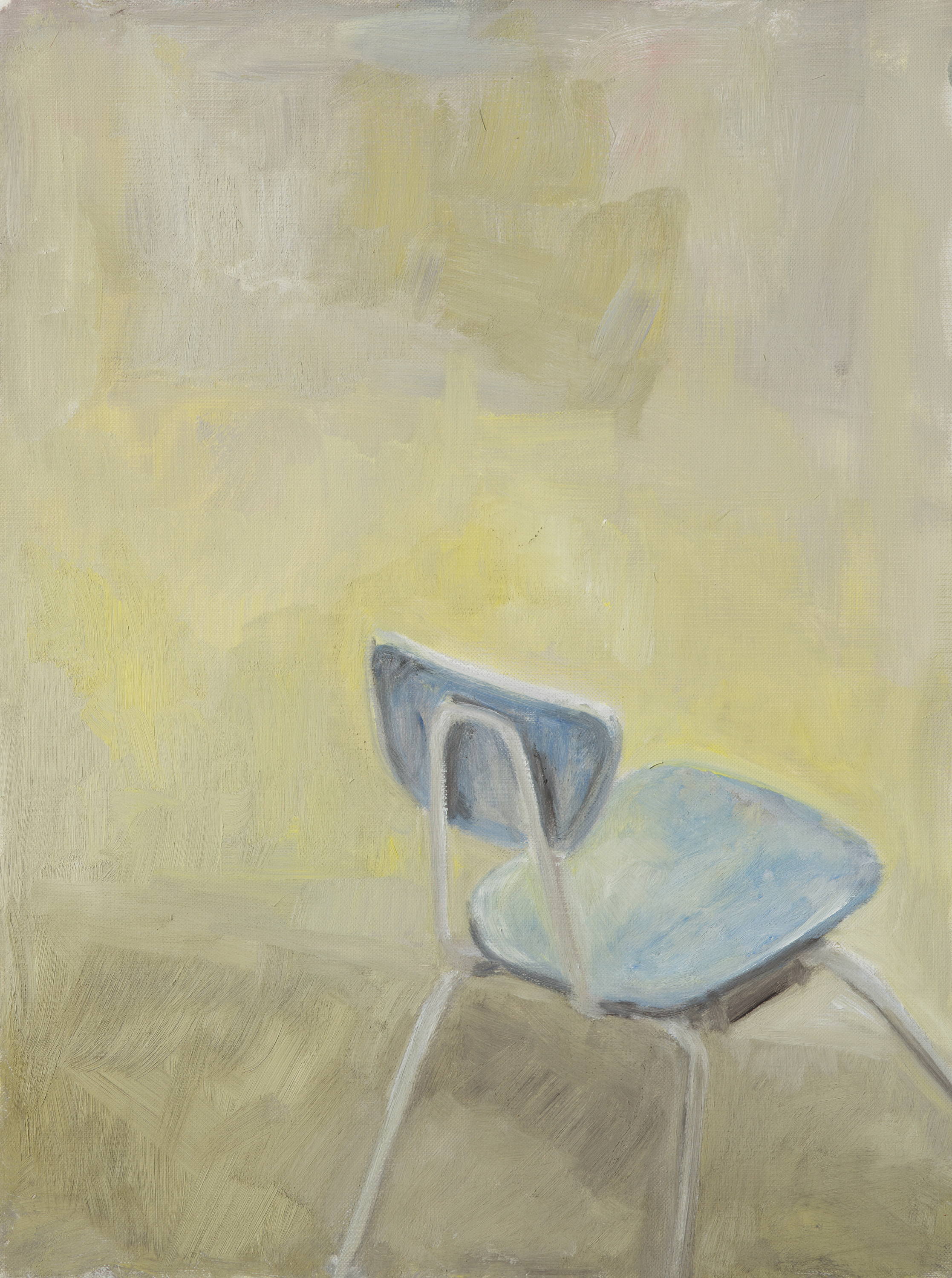 """Have a seat (#1)"" oil on paper, 14"" x 11"""