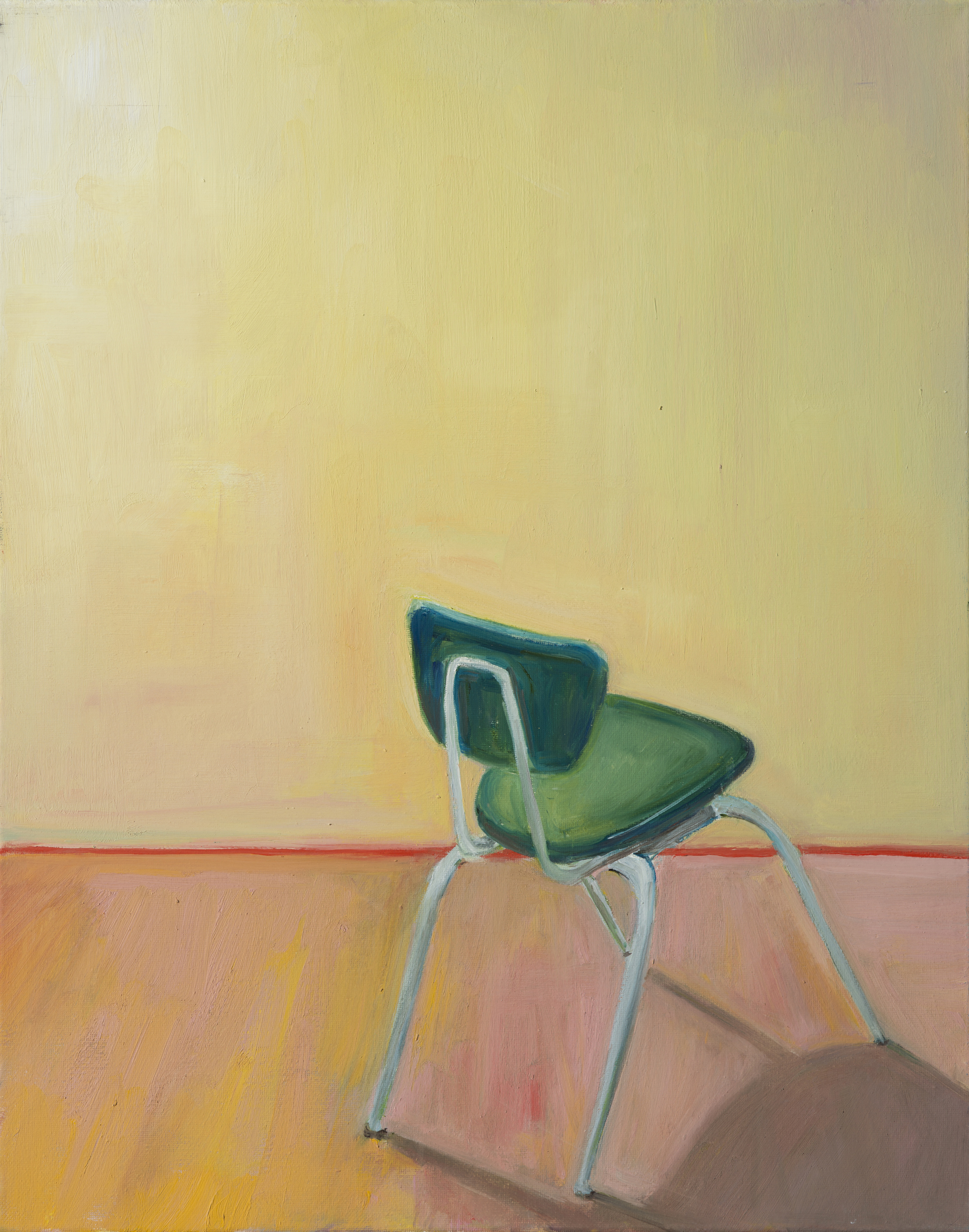 """Have a seat (#2)"" oil on canvas, 20"" x 16"""