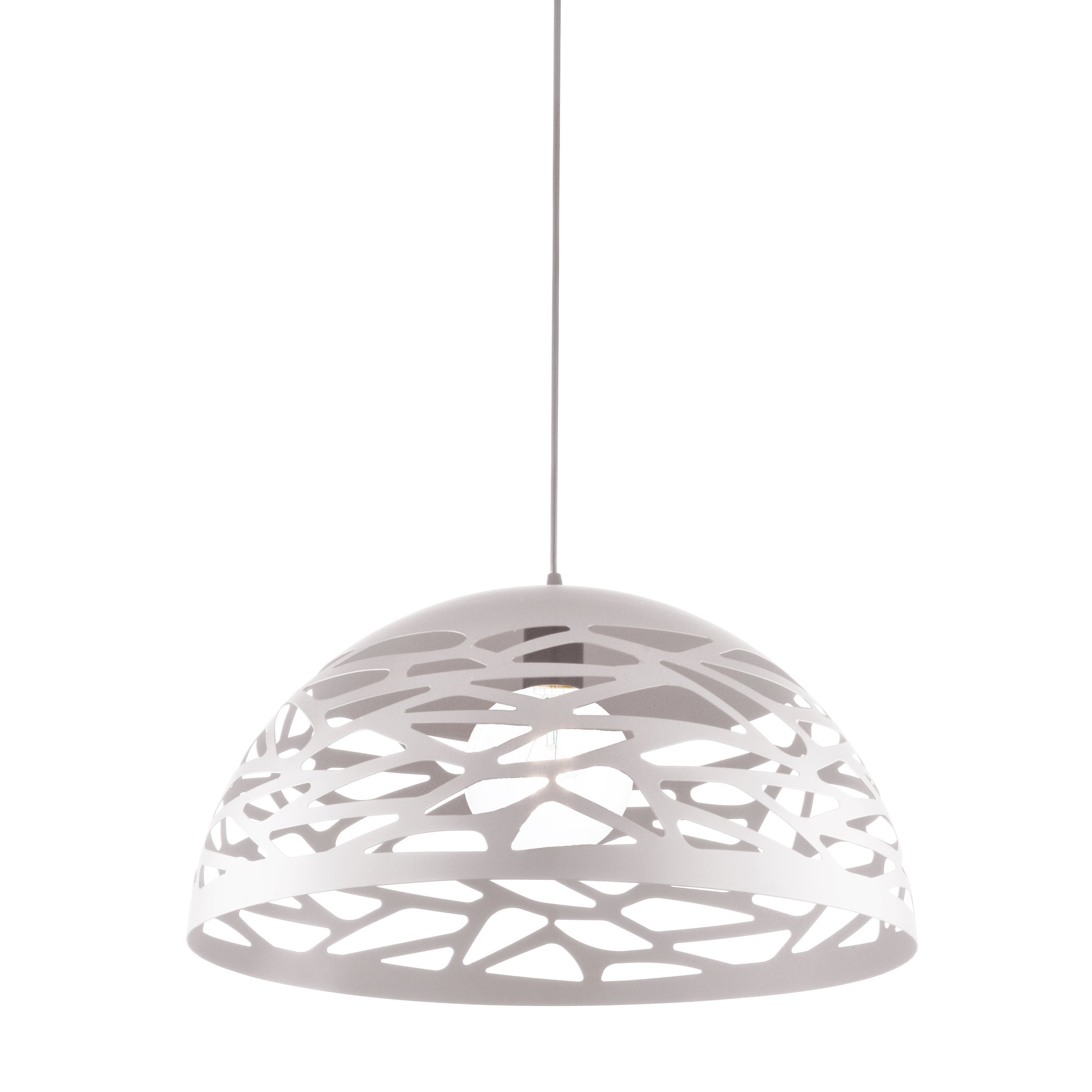 Shaded Pendant Light - Colour: White MatteDimensions: 16