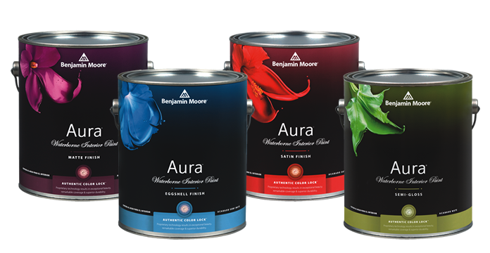 Aura Interior Paint - Aura Interior, with our exclusive Color Lock technology, delivers the ultimate performance for brilliant, rich, and everlasting color.Available in thousands of colours.Available in Matte, Eggshell, Satin and Semi-Gloss finishes.Available in quart or gallon sizes.Quart Price: $31.99 + HSTGallon Price: $82.99 + HST