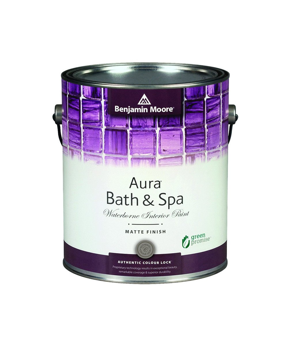 Aura Bath + Spa Paint - Aura Bath & Spa is a luxurious matte finish designed for high-humidity environments.Available in thousands of colours.Available in Matte finish.Available in quart or gallon sizes.Quart Price: $31.99 + HSTGallon Price: $82.99 + HST