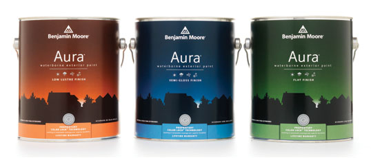 Aura Exterior Paint - Aura Exterior with our exclusive Color Lock technology provides the ultimate performance for rich, full color and unprecedented durability.Available in thousands of colours.Available in Low Lustre and Semi-Gloss finishes.Available in quart or gallon sizes.Quart Price: $33.99 + HSTGallon Price: $87.99 + HST