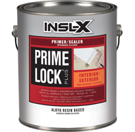 Prime Lock Plus Primer / Sealer - Prime Lock Plus is a fast-drying alkyd resin coating that primes and seals plaster, wood, drywall, and previously painted or varnished surfaces. It ensures the paint topcoat has consistent sheen and appearance (excellent enamel holdout), seals even the toughest stains without raising the wood grain, and can be top-coated with any latex or alkyd finish coat.  Available in quart or gallon sizes.Quart Price: $15.99 + HSTGallon Price:  $37.99 + HST