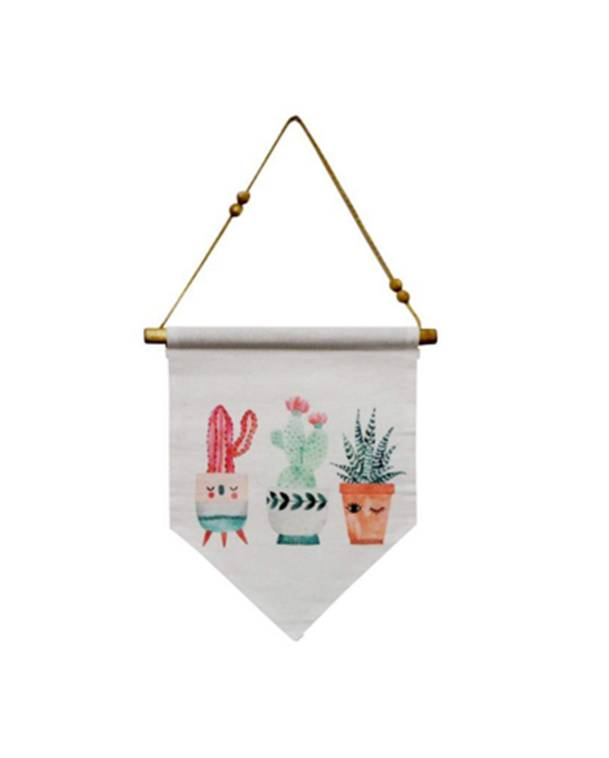 """Baby Cactus Hanging Penant - Colour:  Assorted Dimensions:  11"""" Wide x 12"""" High + StringPrice:  $14.00 + HST"""