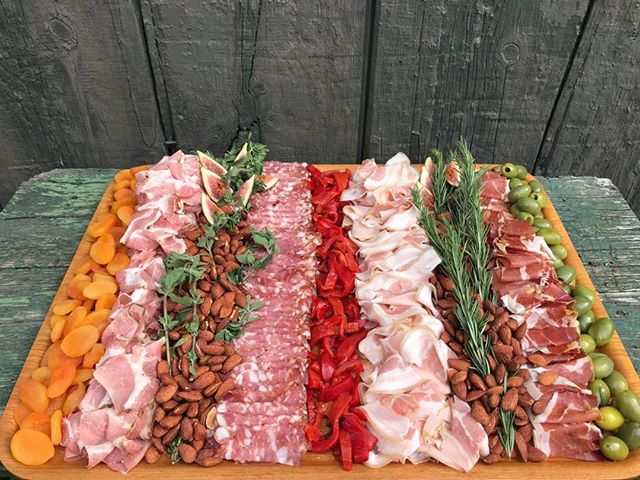 Charcuterie is queued up