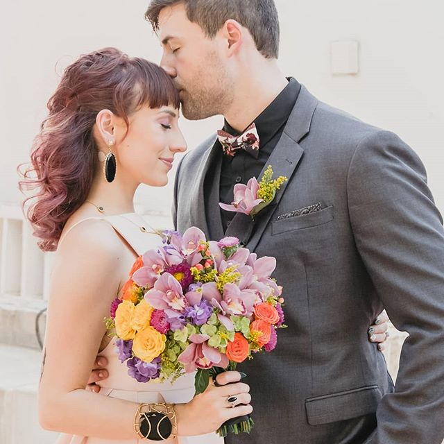 Marriage: an endless sleepover with your favorite weirdo. 💜💙💚🧡💛♥️ Creative Director/Coordinator: @thewildrumpuscollective⠀ Photo: @jpenrose.photography Event Coordinator: @crystalvisionevents⠀ Models: @nicolita_capdevielle @ruiztheday⠀ HMUA: @silkandglow⠀ Florals: @lunamothflowers⠀ Jewelry: @christinagreenejewelry⠀ Cake: @cakesrocktx⠀ Calligraphy: @lignitzletters⠀ Photo Booth: @travelingpbaus 💜💙💚🧡💛♥️ #rainbowflowers #strangerthings #strangeandunusual #whimsicalflowers #dallasflorist #fortworthflorist #colorfulflowers #brightwedding #80swedding #rainbowedding #orchids #blackandgold #badassbride #edgywedding #badasswedding #strangeandunusual #luxewedding #orchidwedding #unusualflowers #elopementphotography