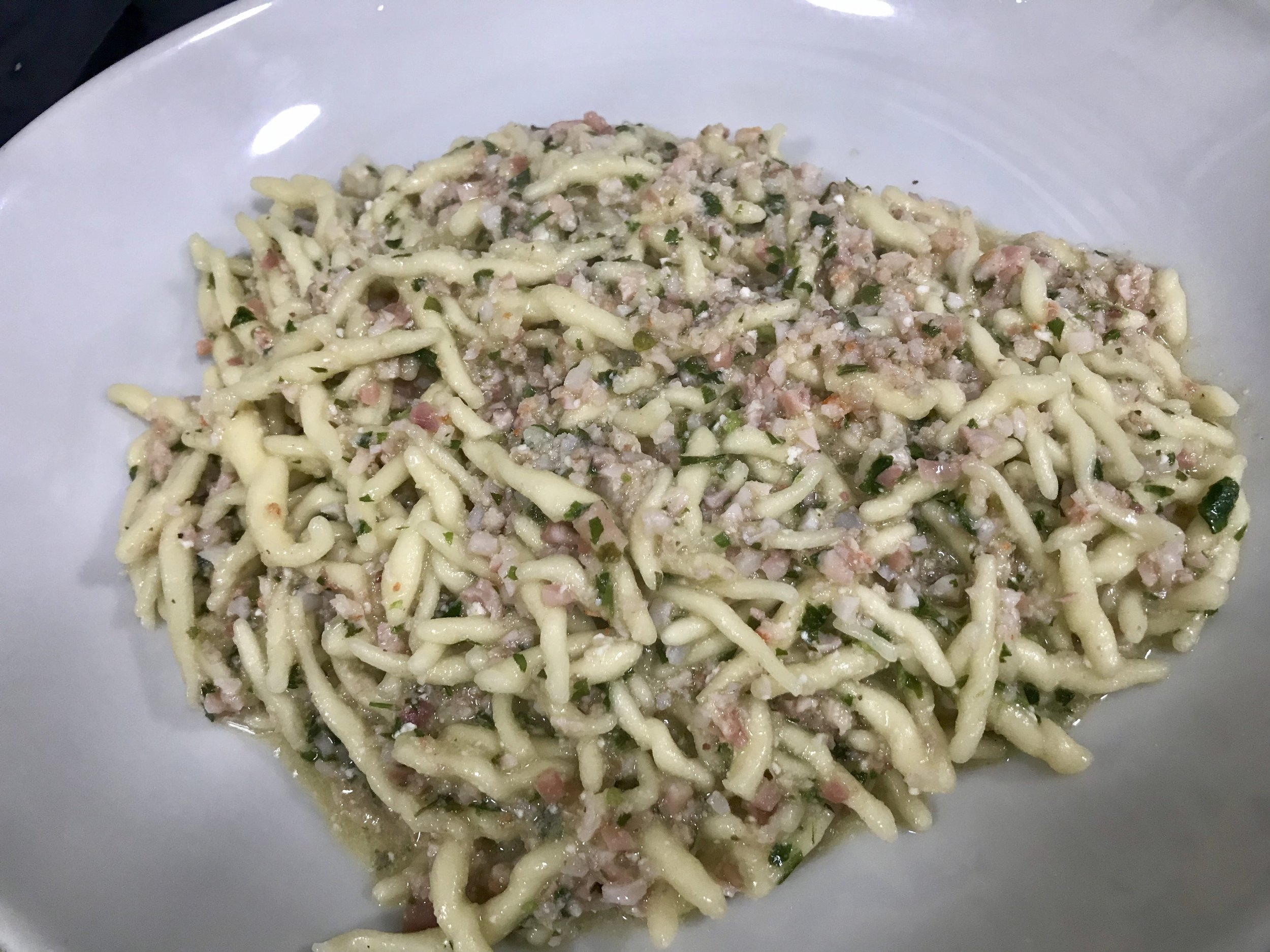 We also tasted this delicious seafood pasta