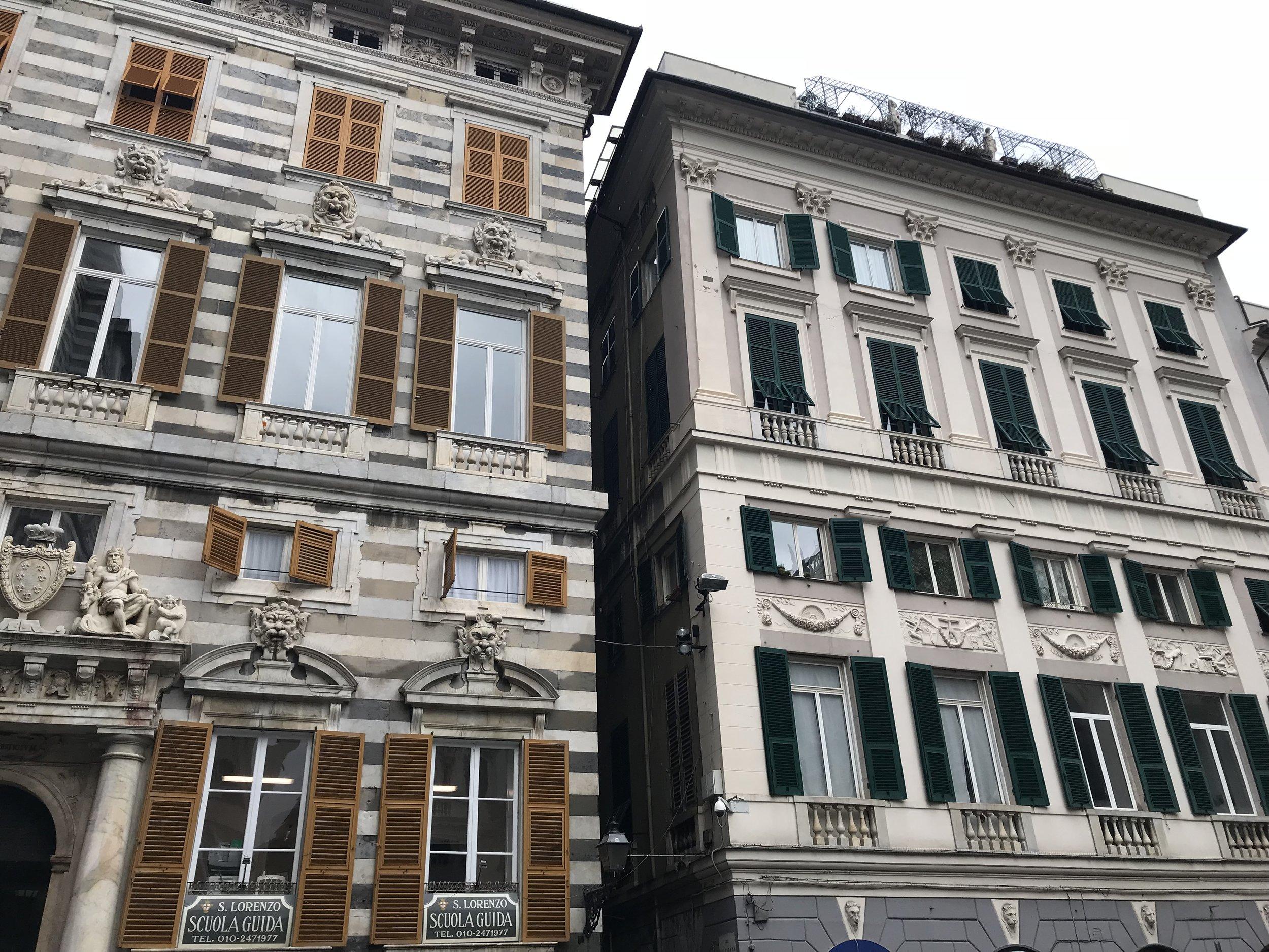 The architecture on Via San Lorenzo
